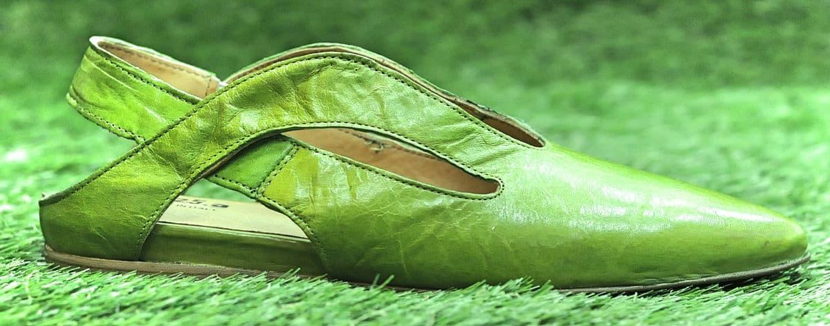 Ballerine in pelle verdi   1725.a - scarpe made in Italy