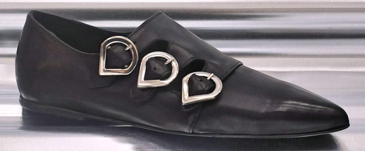 Ballerine a punta nera | 1725.a - scarpe made in Italy