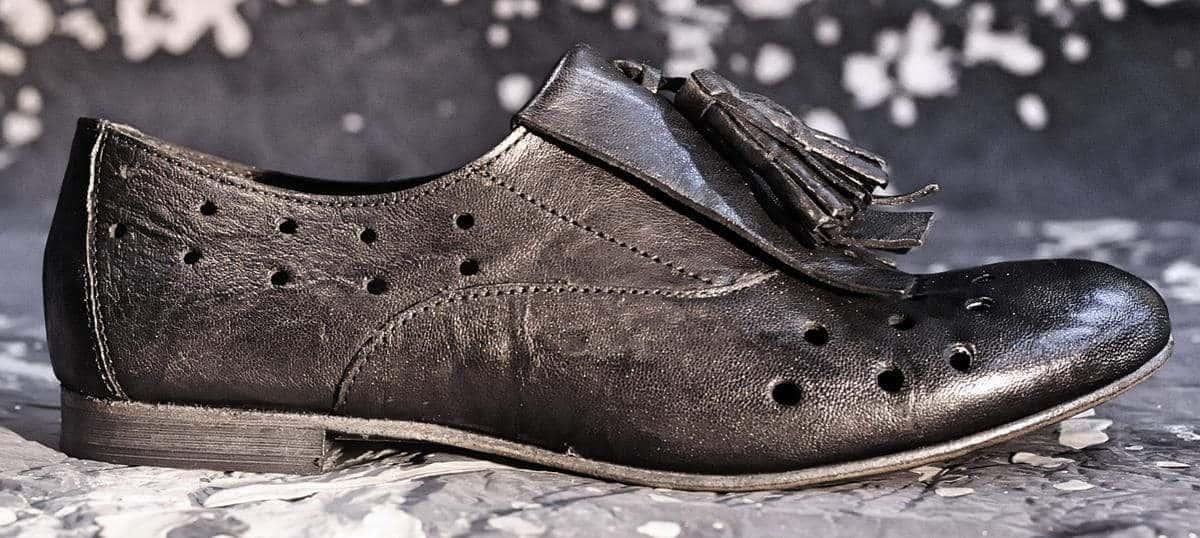 Parigina donna nera con frangia | 1725.a - scarpe made in Italy