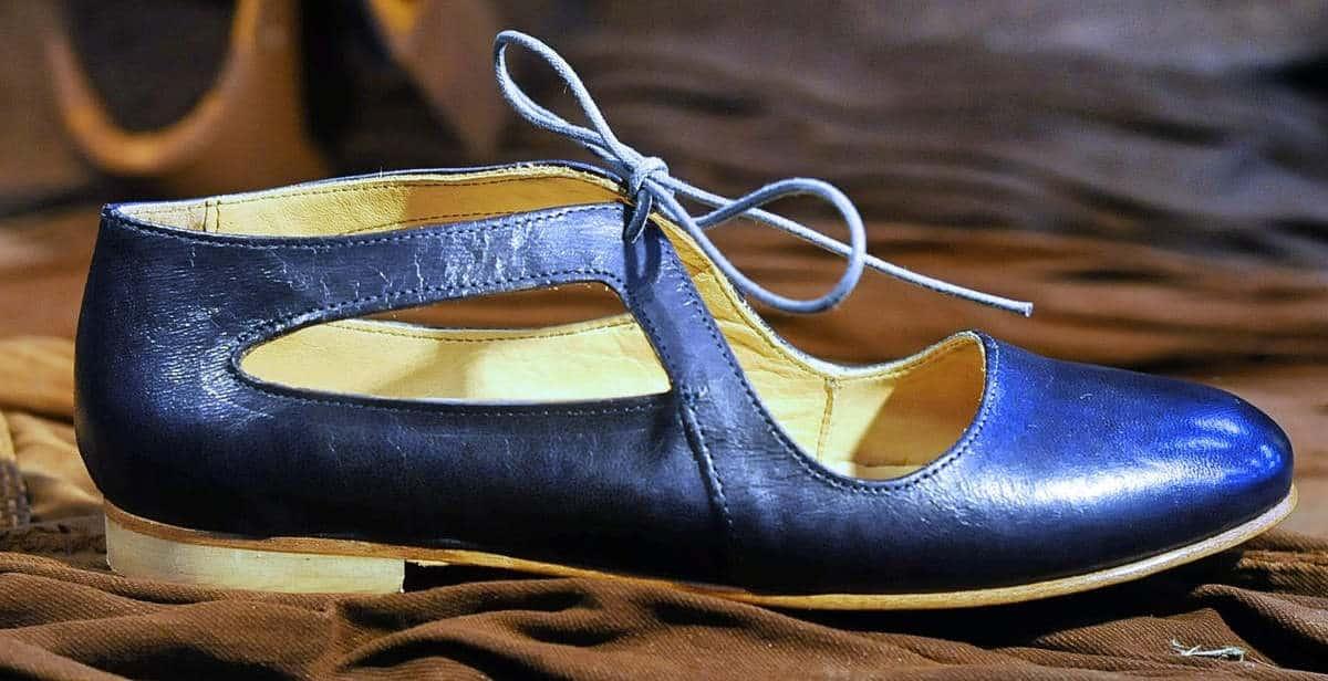 Ballerina tonda blu in pelle | 1725.a - scarpe made in Italy