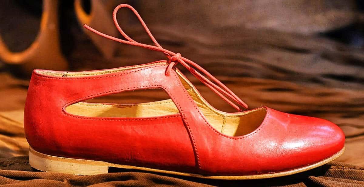 Ballerina tonda rossa in pelle | 1725.a - scarpe made in Italy