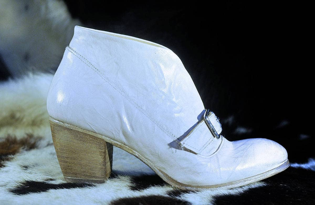 Stivaletto bianco in pelle | 1725.a - scarpe made in Italy
