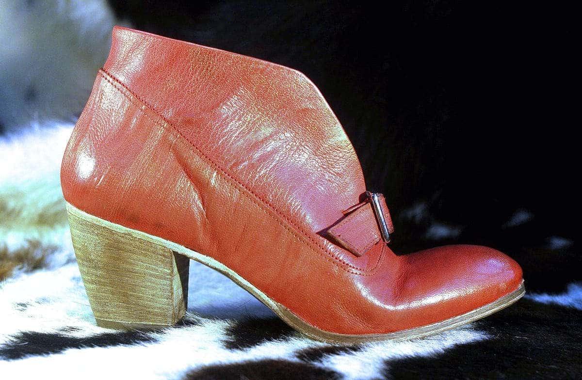 Stivaletto rosso in pelle | 1725.a - scarpe made in Italy