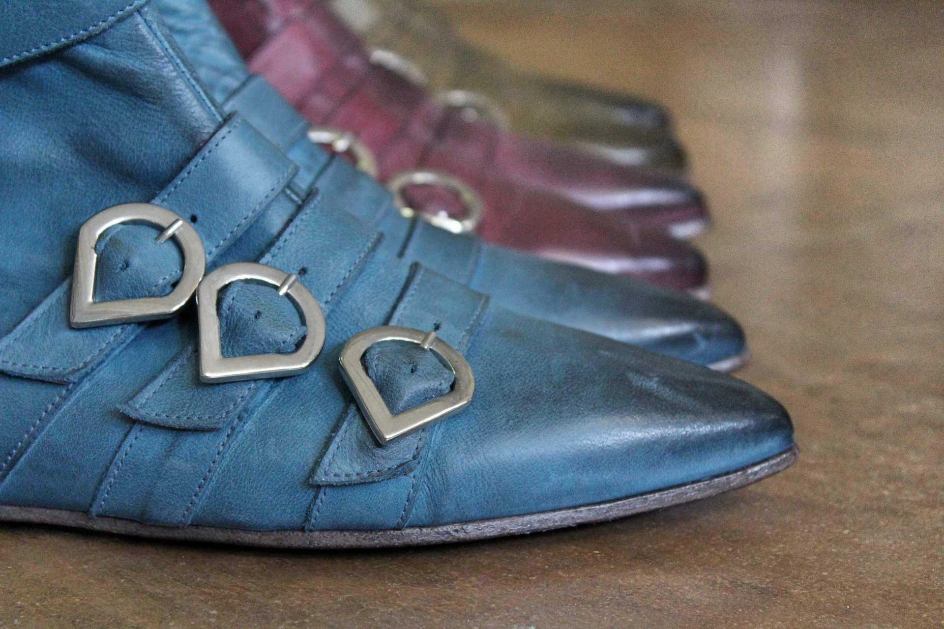 tronchetto blu dettaglio | 1725.a - scarpe made in Italy