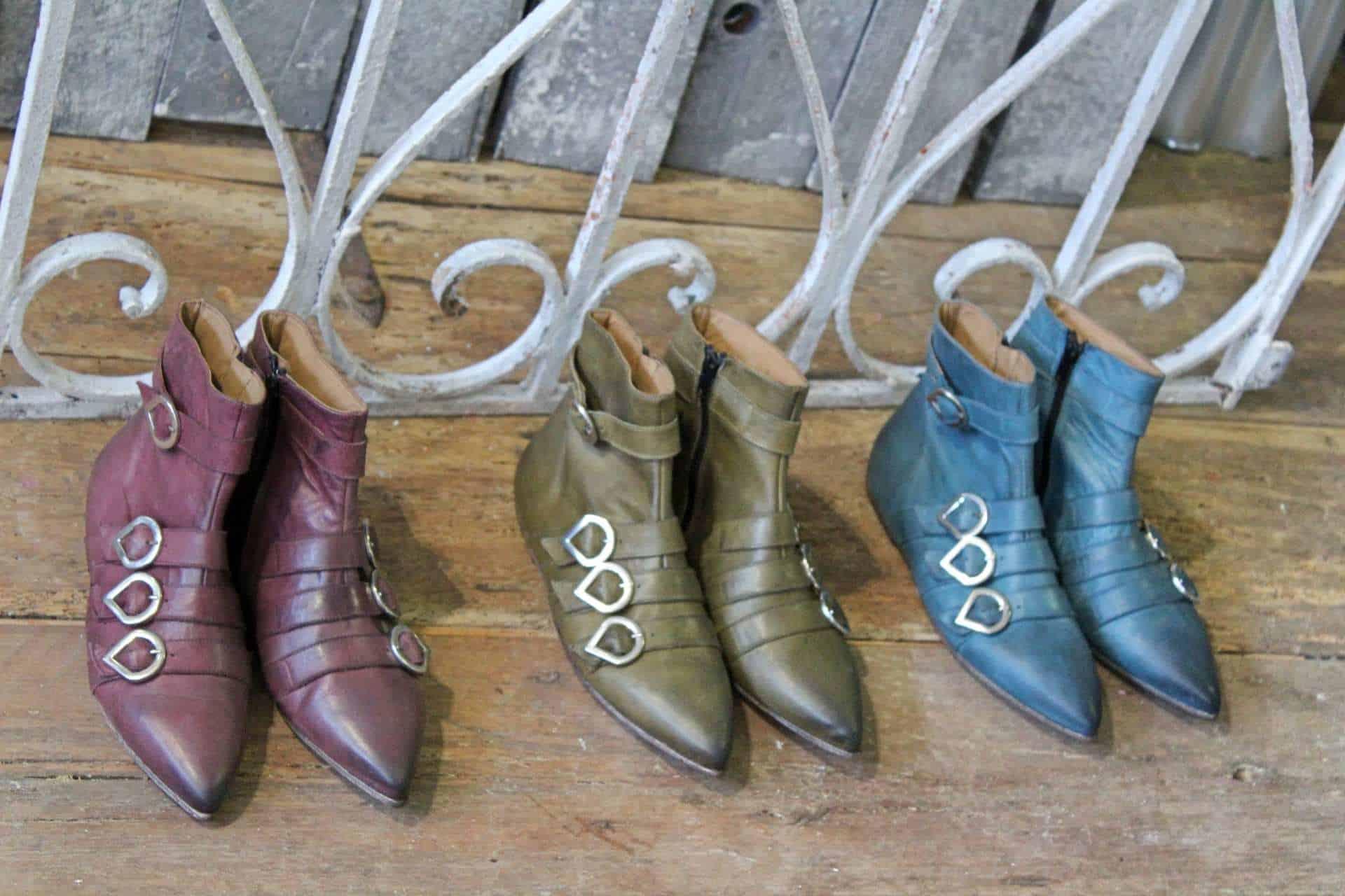 tronchetti punta e fibbie | 1725.a - scarpe made in Italy