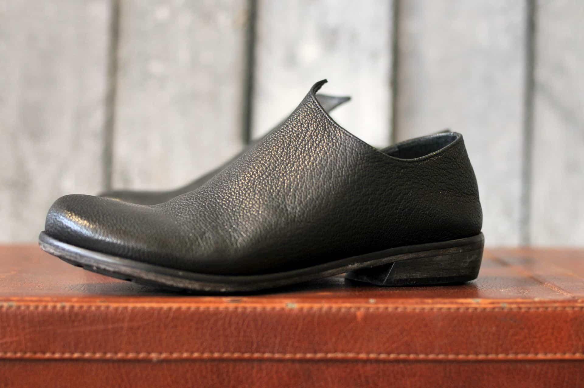 mocassino donna nero - profilo | 1725.a - scarpe made in Italy