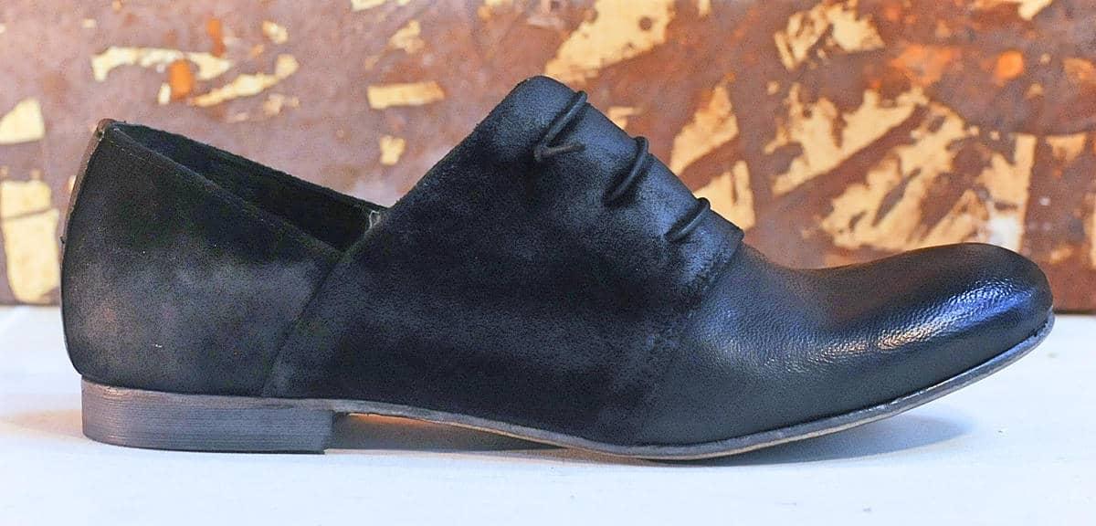 Parigina donna nera con stringhe | !725.a - scarpe made in Italy