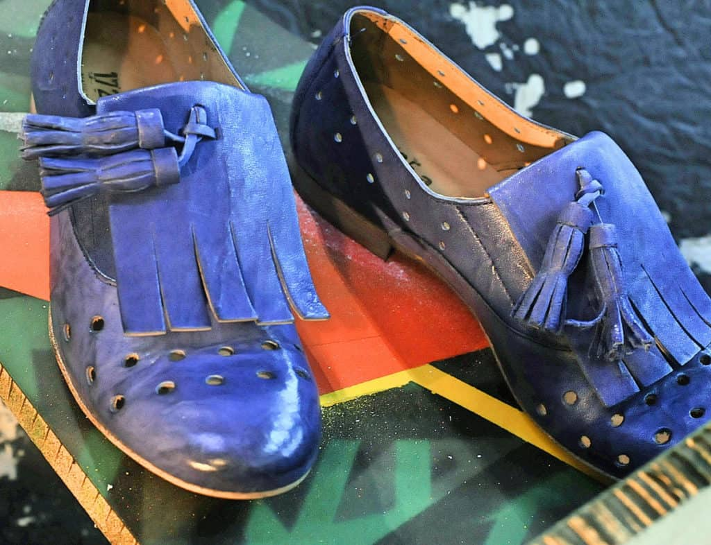 Mocassini donna blu | 1725.a - scarpe made in Italy