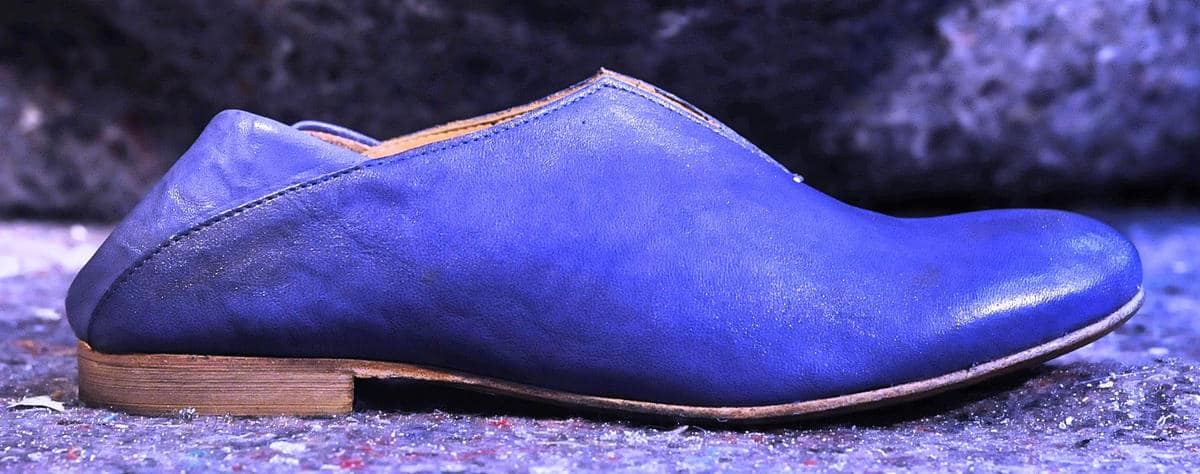 Mocassino donna blu in pelle | 1725.a - scarpe made in Italy